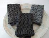 Dish Cloths/Wash Cloths Knit in Cotton in EBCoalMarl Anthracite and DogwoodCoolGreyMist