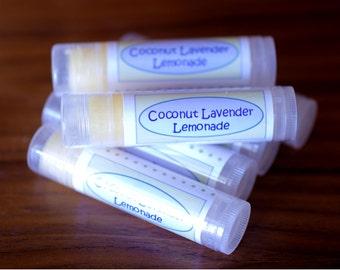 Coconut Lavender Lemonade Lip Balm. Shea Butter. Lip Butter.