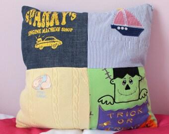 Custom Memory Pillow - Baby Clothes Pillow Cover  - Memory Pillow Case
