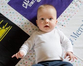 Custom T-Shirt Quilt Blanket - 9 Block Design - Baby Quilt - Lap Quilt - Baby Blanket