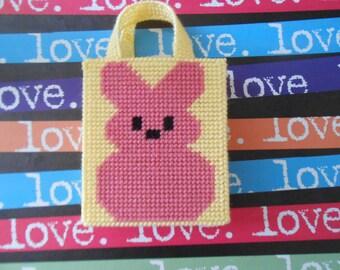 Plastic Canvas Easter Bunny Peeps Gift Bag