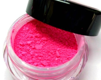 "Bright Pink Shimmer Eye Shadow - Hot Pink - ""COTTON CANDY"" - Mineral Makeup - Eyeshadow"