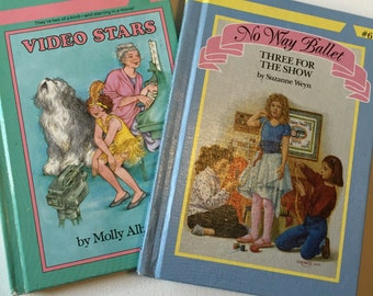 Video Stars and No Way Ballet, 2 Vintage Girls Books, 1980s Fiction Books by Troll Publishers Hardbound Books for Girls Adolescents SALE