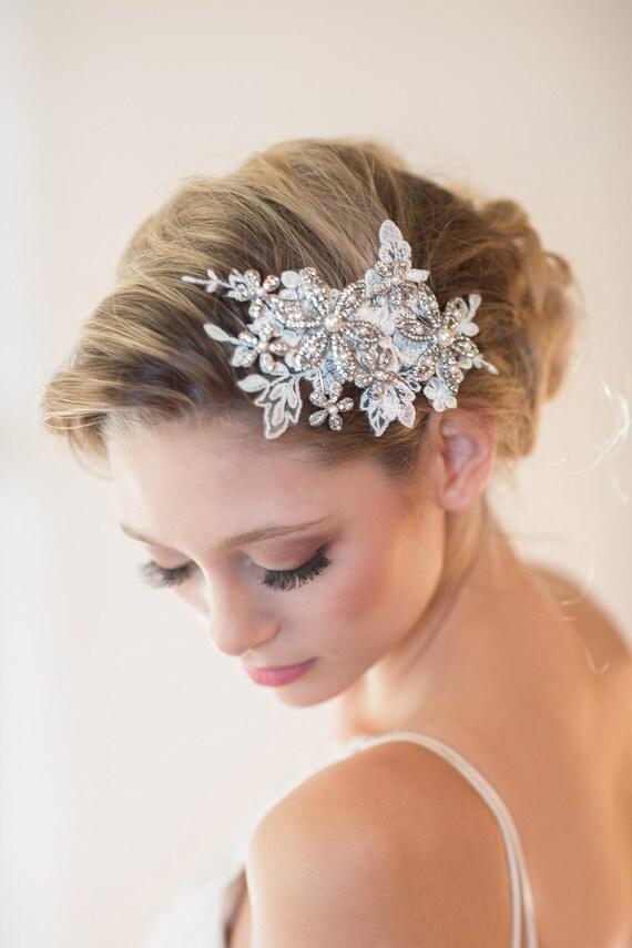 Wedding Lace Headpiece Bridal Hair Accessory Lace Headpiece - photo #40