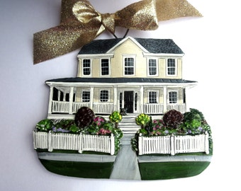 Custom listing GoneGlamping- two Custom House Ornaments- a cherished keepsake of your home
