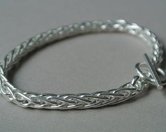Modern Sterling Silver Bracelet