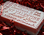 Valentine Love Soap Bar - Vegan Soap - Valentines Day Soap