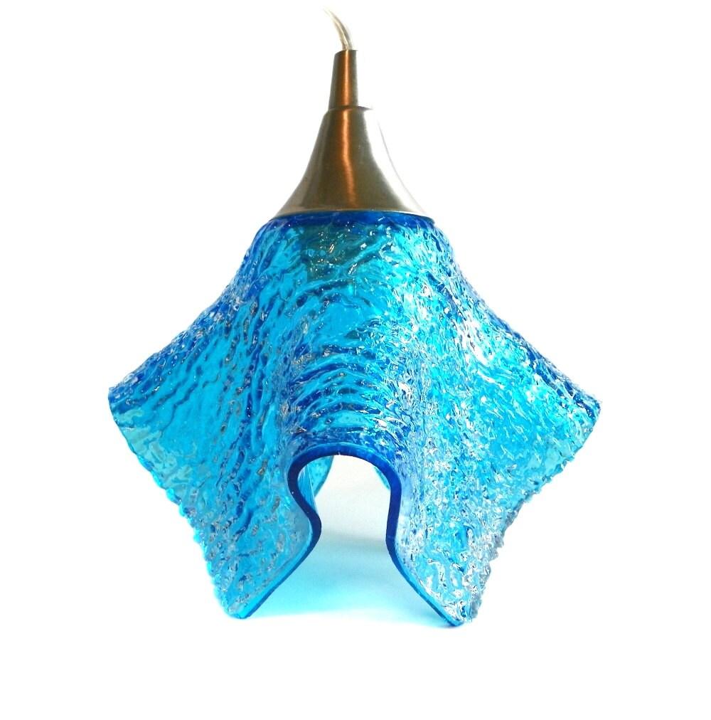 pendant light in turquoise texture glass unique lighting