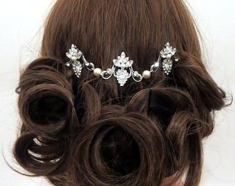 Wedding hair accessory, Bridal headpiece, Bridal hair comb, Crystal hair comb, Rhinestone hair comb, Bridal hair vine, Rhinestone headpiece