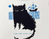 Mr Smoulder limited edition screen print by Jane Ormes