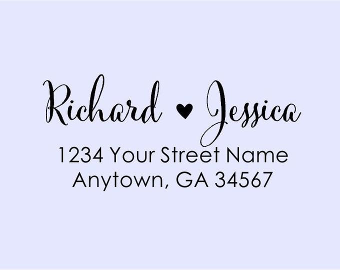Personalized Self Inking Return Address Stamp - self inking address stamp - Custom Rubber Stamp R266