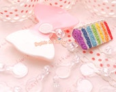 Transparent Clear Plastic Blank Bails | For Making Charms Kandi Beads How to Use Cabochon 60pc