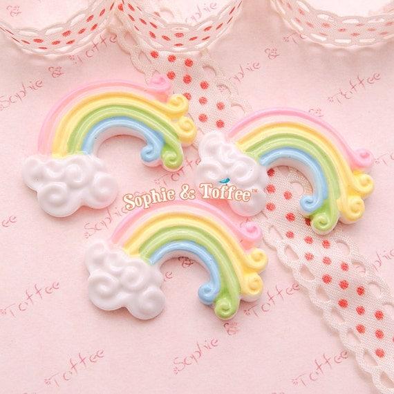 Kawaii Rainbow Cabochon Regenbogen Dekoration
