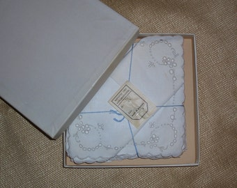 Boxed Maderia Napkins from the 1920s