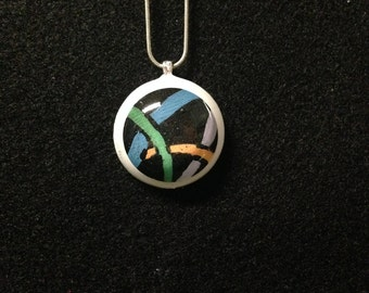 Hand-painted Resin Pendant