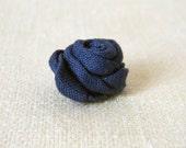 Linen flower lapel pin. Men's boutonniere. Men accessories. Rose boutonniere. Blue. Pick your size.