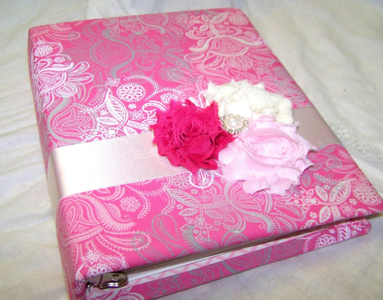 Bridal Shower Gift Record Book : Gift Recording Book Bridal Shower Wedding Pink Flourish