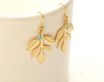 Bridal Earrings,Athena Earrings, Greek Goddess Earrings, Leaf Earrings, Bridal Jewelry, Bridesmaid Accessories