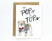 Father's Day Card - Pops Is Tops Card
