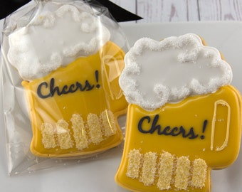 Beer Mug Cookies, Beer Cookies, Birthday for Him