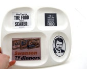 Ron Swanson TV Dinner Tray, parks and rec, ceramic dinner plate, tv dinner, ceramic tray, funny gift for him