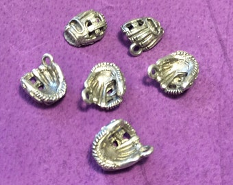 Baseball Softball Glove Pewter Charms