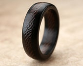 Ebony Wenge Wood Ring- 7mm