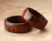 Custom Matching Tamboti Wood Rings - 8mm