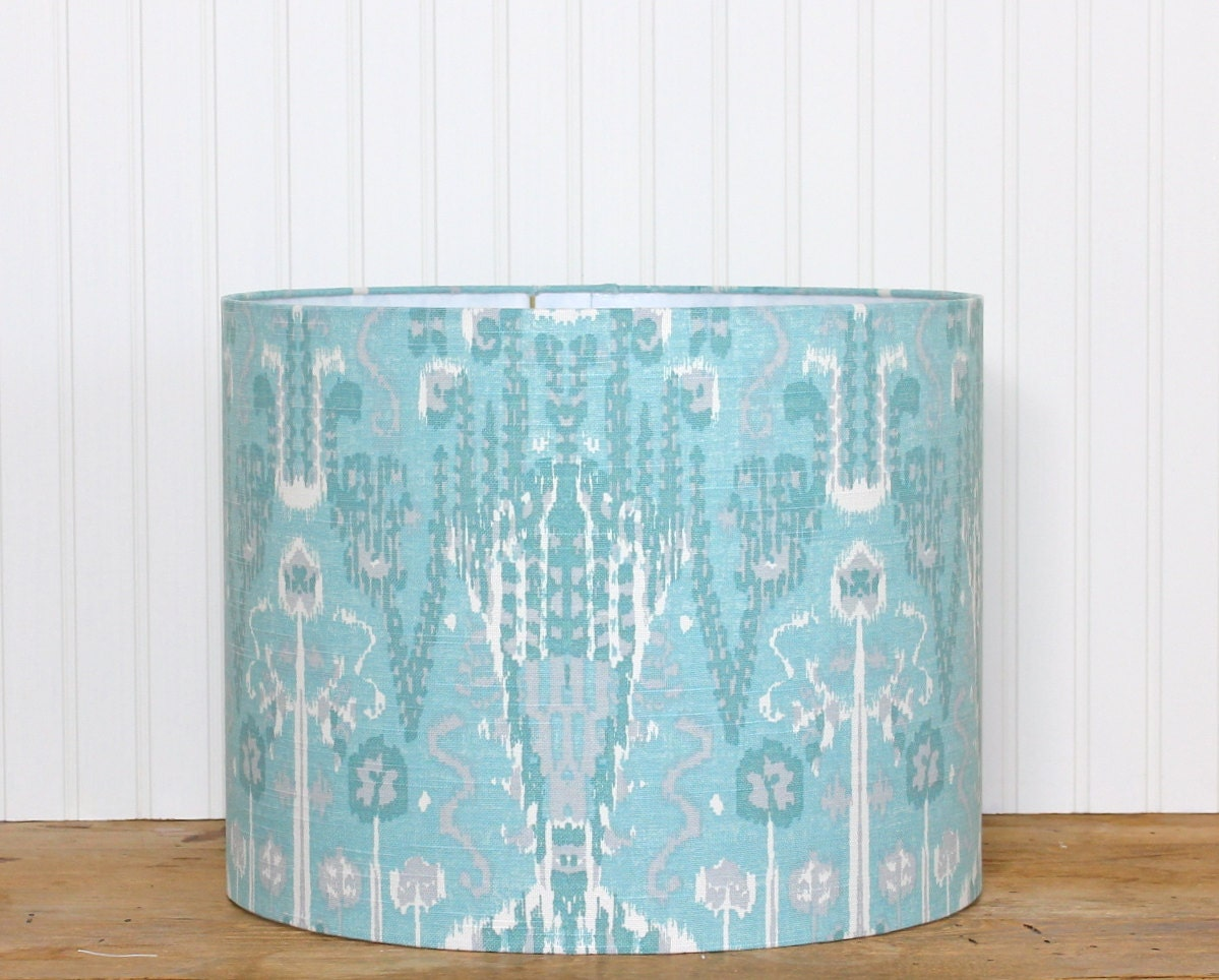 Lamp Shade Lampshade Drum Bombay By Lacefield Designs In Mist