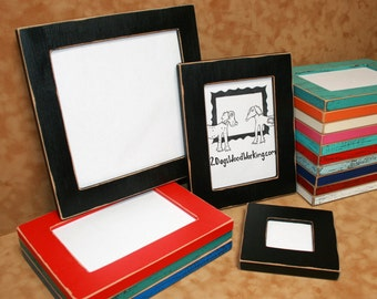 13x19 picture frame bright colored frame black photo frame weathered frame distressed frame shabby frame colorful frame67 colors 15