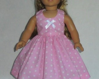 Summer dress designed for American Girl 18 inch doll   No.649