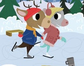 Mouse and Deer - Skating