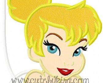 Fairy Bust Applique Embroidery Design
