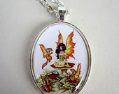 SALE Fairy and fantasy squirrel necklace by Amy Brown