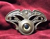 Art Nouveau Ocular Brooch
