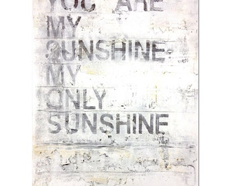 you are my sunshine - 8 x 10, Modern Contemporary Abstract Art FINE ART PRINT by Shanna