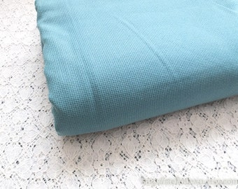 SALE Clearance 1 Yard Solid Fabric, Neat Retro Peacock Blue Color- Japanese Jacquard Cotton Fabric(1 Yard)