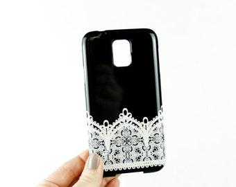 Samsung Galaxy Case, Lace Galaxy  Case, Black and White Galaxy S7 Case, Galaxy S7 Mini Case, Galaxy S6 Edge Case, Galaxy