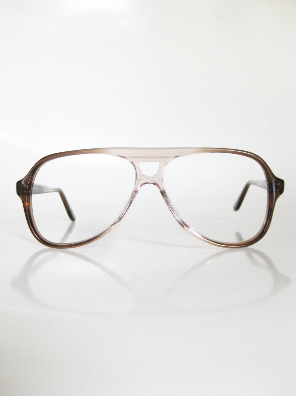 7a35c7f8e4e SALE Vintage Mens Glasses 1970s Aviator Eyeglasses Sunglasses Cognac Light  Brown Fade NOS Homme Guys New