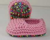 Instant Digital File pdf download knitting pattern - Toddler Simple Chunky Slippers knitting pattern