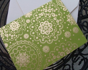 Greeting Cards - Chartreuse India - (Set of 10)