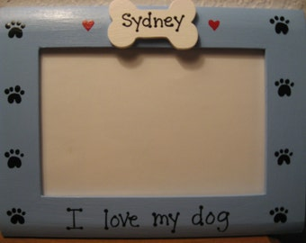 i love my dog gift pet photo picture frame