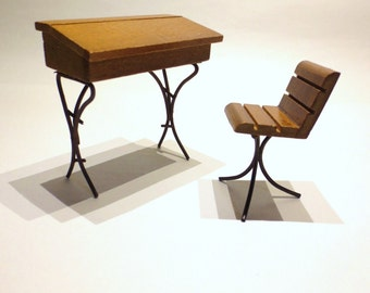 Desk and Chair Shackman- School desk and chair