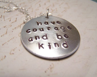 Have Courage And Be Kind Neclace. Cinderella