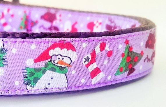Snowman - Dog Collar / Adjustable / Pet Accessories / Handmade / Gift Idea / Pet Lover / Christmas / Seasonal