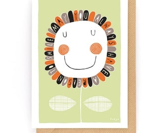 May You Always Have A Reason To Smile - Greeting Card (2-37C)