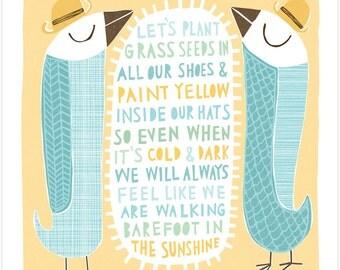 Barefoot in the Sunshine - Fine Art Print