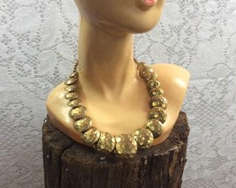 Vintage Hammered Necklace