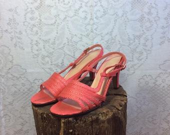 Vintage Red Strappy Sandals