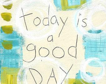 Good Day - ART CARD - ecofriendly